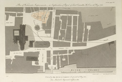 Plan of Westminster improvements in explanation of Report of Select Committee Ho. Com. 31st May 1810